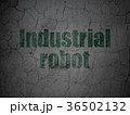 Manufacuring concept: Industrial Robot on grunge 36502132