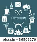 アイコン クリスマスツリー 休日のイラスト 36502279