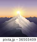 ベクター 山 景色のイラスト 36503409