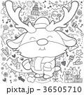 トナカイ クリスマス スケッチのイラスト 36505710