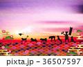 戌年 富士山 初日の出のイラスト 36507597
