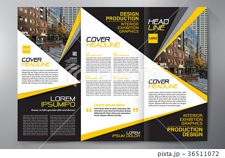 brochure 3 fold flyer design a4 template のイラスト素材 36511072