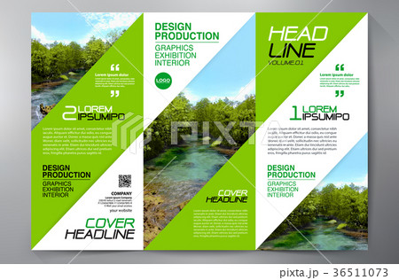 brochure 3 fold flyer design a4 template のイラスト素材 36511073