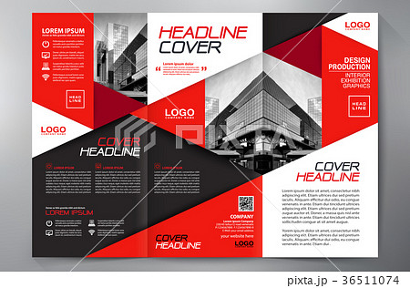 brochure 3 fold flyer design a4 template のイラスト素材 36511074