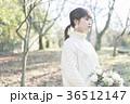 女性 森 セーターの写真 36512147