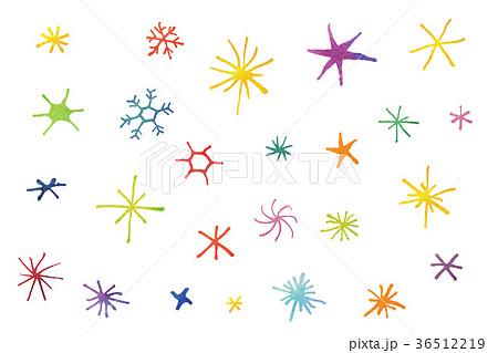 手描き キラキラ カラーのイラスト素材 36512219 Pixta