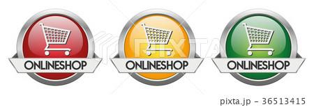 Modern Button Vector Onlineshop 36513415