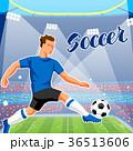 サッカー スタジアム 競技場のイラスト 36513606
