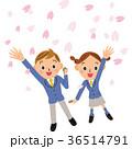 桜 ベクター 男女のイラスト 36514791