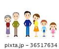 家族 立つ 三世代のイラスト 36517634