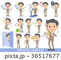 男 背広 複雑のイラスト 36517677