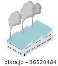 工場 煙突 煙のイラスト 36520484