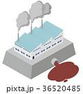 工場 煙突 煙のイラスト 36520485