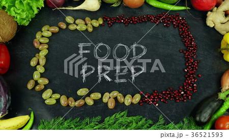 Food prep fruit stop motion 36521593