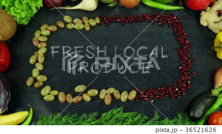 Fresh local produce fruit stop motion 36521626