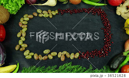 Fresh foods fruit stop motion 36521628