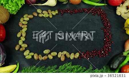Eat smart fruit stop motion 36521631