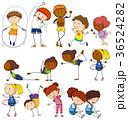 エクササイズ 人々 人物のイラスト 36524282