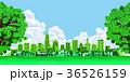 町並み 町 エコロジー 入道雲 36526159