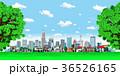 町並み 町  雲 樹木 36526165