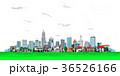 町並み 町  雲 透明 36526166
