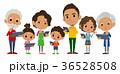 ファミリー 家庭 家族のイラスト 36528508