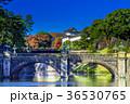 皇居外苑の二重橋(正門石橋) 36530765