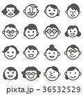 家族 三世代 セットのイラスト 36532529