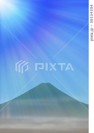 富士山と光 36534394
