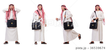 Arab man isolated on white backgroundの写真素材 [36539674] - PIXTA