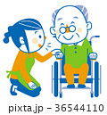 介護 車椅子 訪問介護のイラスト 36544110