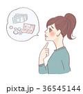 女性 人物 考えるのイラスト 36545144