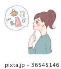 女性 人物 考えるのイラスト 36545146