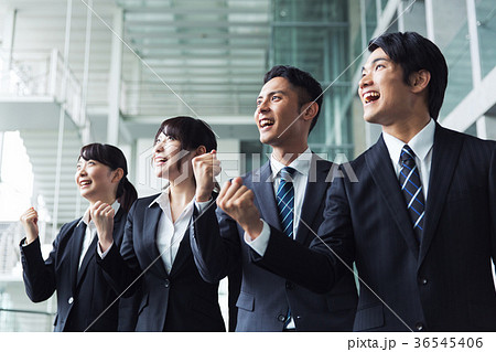 ビジネス ガッツポーズ チーム 36545406