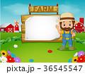 農業 農耕 動物のイラスト 36545547