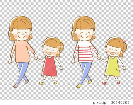 父母和孩子的插圖 36549205