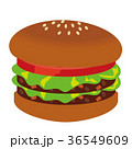 ハンバーガー ファストフード ファーストフードのイラスト 36549609