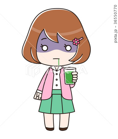 青汁入りのコップを持って放心状態の女性 36550770