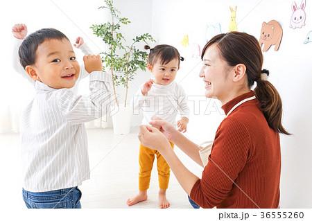こども園・保育園・幼稚園で遊ぶ子供と先生 36555260