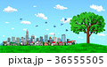 街並み 街 エコロジー 樹木 青空 36555505