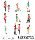 親 子供 組み合わせのイラスト 36556733