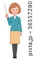 指示棒を持つ笑顔の女性 36557280