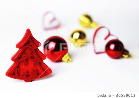 red christmas decor tree woodの写真素材 [36559013] - PIXTA