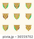 set of color tortilla or sandwich tacos food icons 36559702