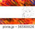 赤い背景の彼女 36560026