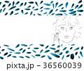緑の葉っぱのカード風 36560039