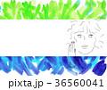 寒色系の植物のカード 36560041