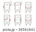 スマホ スマートフォン キャラクターのイラスト 36561641