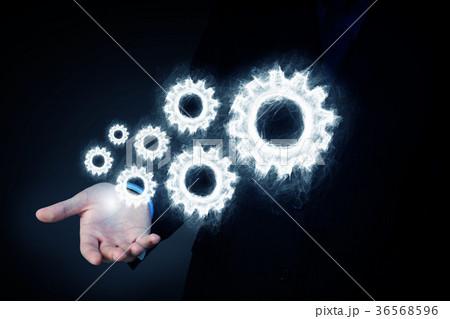 Cogwheel mechanism as teamwork conceptの写真素材 [36568596] - PIXTA