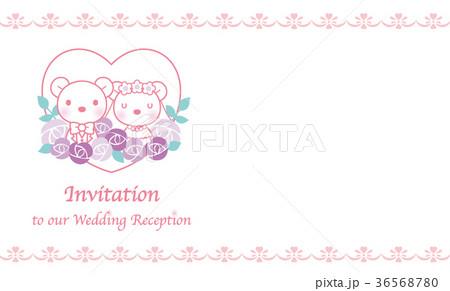 熊のウエディング素材(招待状) 36568780